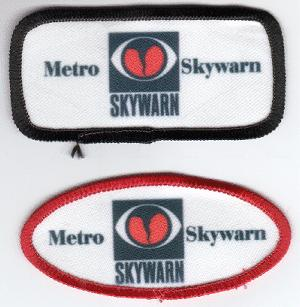 Skywarn Arm Patches